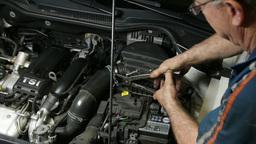 Car Repair Mechanic Assembling Automobile Air Filt Footage
