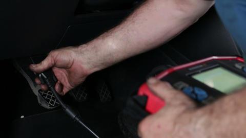 Car Repair Automotive Electronic Diagnosis Footage