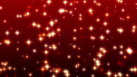 Warm Sparkling Red Stars Ramp Background 3 Stock Video Footage