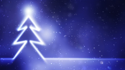 Christmas with shinning star, loop Animation