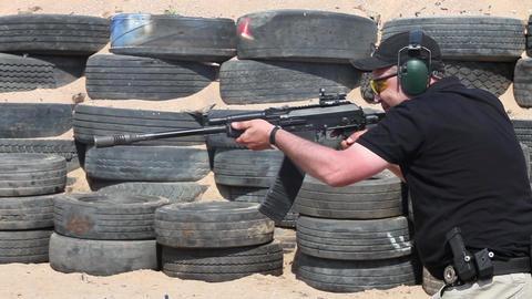 Kalashnikov Deadly Weapon stock footage