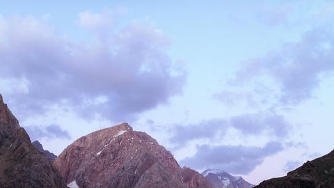 Clouds over mountains. Time Lapse. Pamir, Tajikist Footage