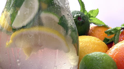 Preparation of Lemonade in a Pitcher Footage