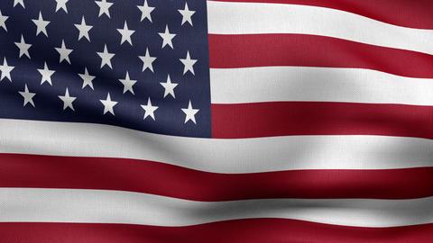 usa flag 4k Animation