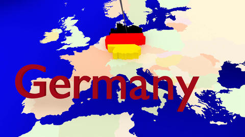 Worldmap Zooms To Germany stock footage