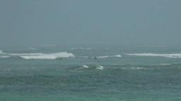 Surfers Paradise At Coast Of Bali Indonesia stock footage