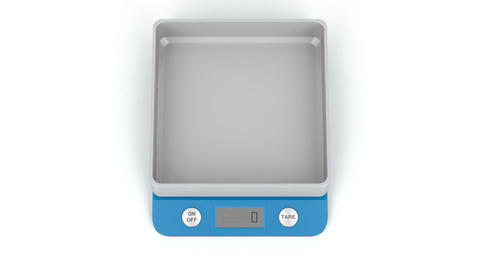 Digital kitchen weight scale Animation