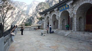 China Songshan Mountains 05 Sanhuangzhai Monastery stock footage