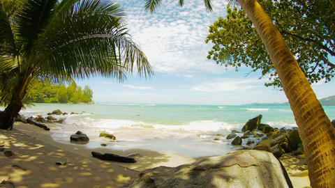 Tropical Beach Without People. Thailand. Hua Beach stock footage