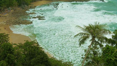 Thailand beach. Not touristic season. cloudy. few Footage