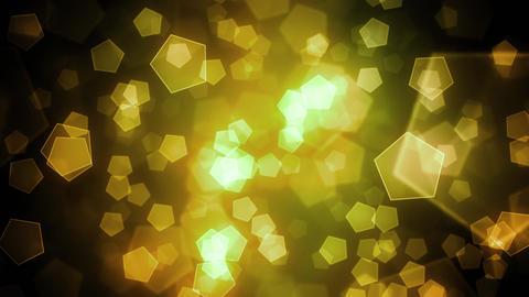 Yellow Hexagon Shapes Animation