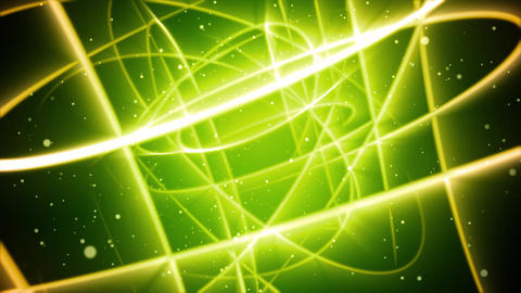 Green Streaks Space Animation