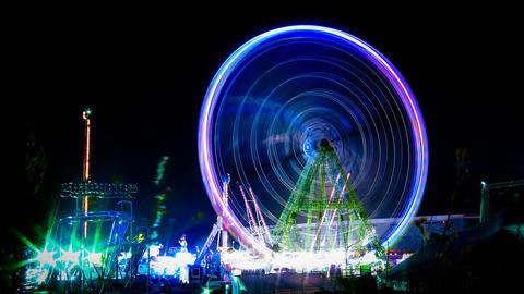 Amusement park time lapse Footage