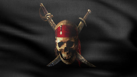 Jolly Roger Flag HD stock footage