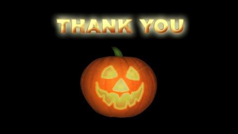 Smiling Jack-o-lantern Thanking You, Looping Anima Animation