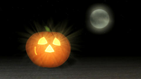 Happy Halloween Smiling Jack-o-lantern Animation stock footage