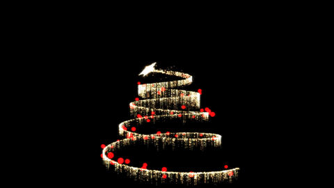 Christmas Tree Creation Red/Gold Animation