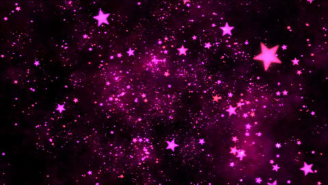 Space Travel through Star Shapes - Loop Purple Animation