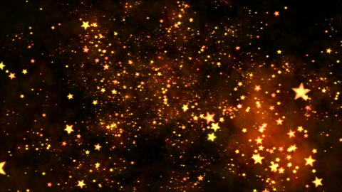 Space Travel Through Star Shapes - Loop Orange stock footage