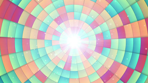 circular colorful segments loopable background Animation