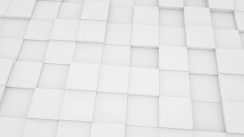 abstract geometric background white mat cubes movi Stock Video Footage