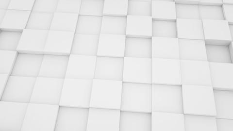 Abstract Geometric Background White Mat Cubes Movi stock footage