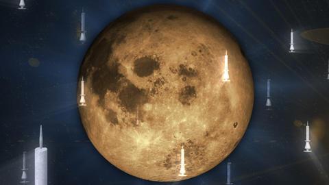 Gothic Halloween Moon Loop 1 Animation