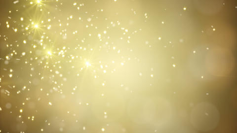 flying gold sparklers loopable festive background Animation