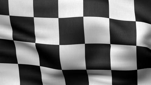 Checkered Flag 4 K stock footage