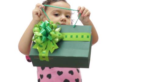 Baby Girl Peeking Gift Bag Footage