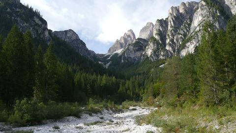 pan tilt dolomite alps valley refuge Auronzo 11546 Footage