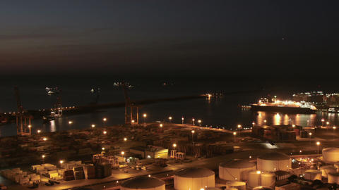 Cruises in the Indstrial Port of Barcelona Zoomed Footage