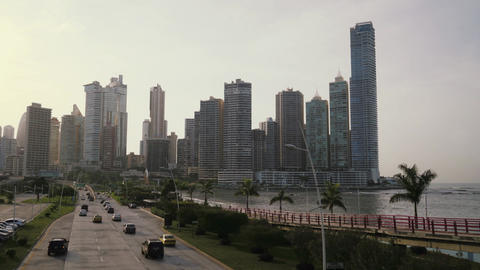 2of 19 Panama City time lapse of cars , traffic Footage