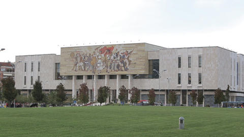ational History Museum in Tirana Footage
