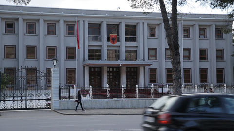 Albanian presidency building Live Action