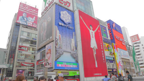 day pan - The big ads at Dotonbori Footage