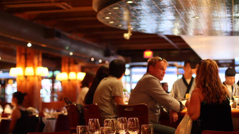 People Having A Drink At The Sushi Bar stock footage
