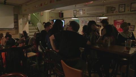 popular British pub in Taipei Footage