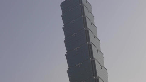 Taipei 101 Tilt During Sunrise stock footage
