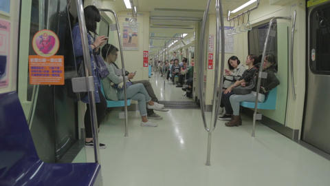 young people in the Taipei MRT Live Action