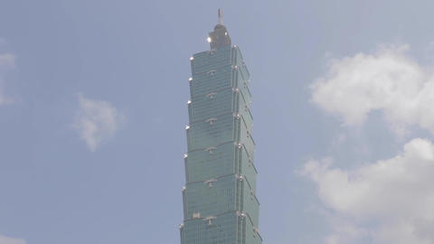 Taipei 101 Sunny Day - Still And Pan stock footage