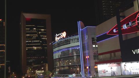 pan - viewshow cinema and neo19 - Xinyi Taipei nig Footage
