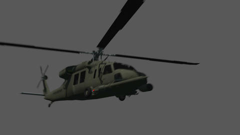 Black Hawk Flyby Animation