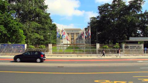 UNO In Geneva stock footage