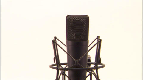Studio Microphone stock footage