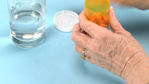 Taking Medication stock footage