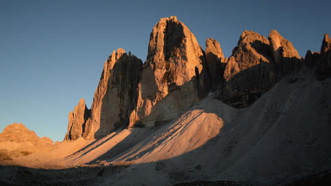 4k UHD sunset time lapse tre cime de lavared 11555 Footage