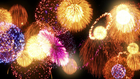 Fireworks Festival 2 En 1s 4k stock footage