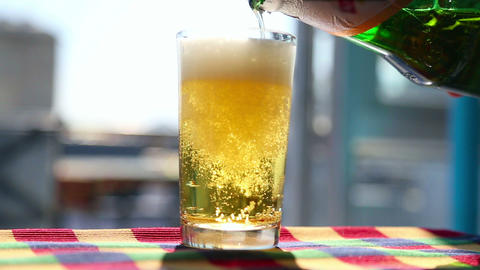 Glass of beer Footage