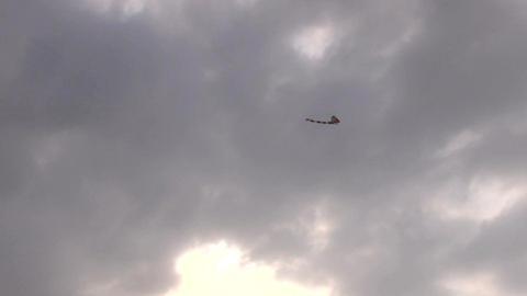 Kite flying in dark cloud weather Footage